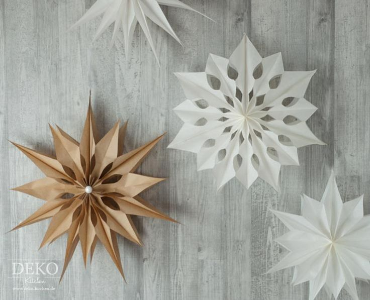 DIY: großer Weihnachtsstern aus Brotpapiertüten Deko-Kitchen