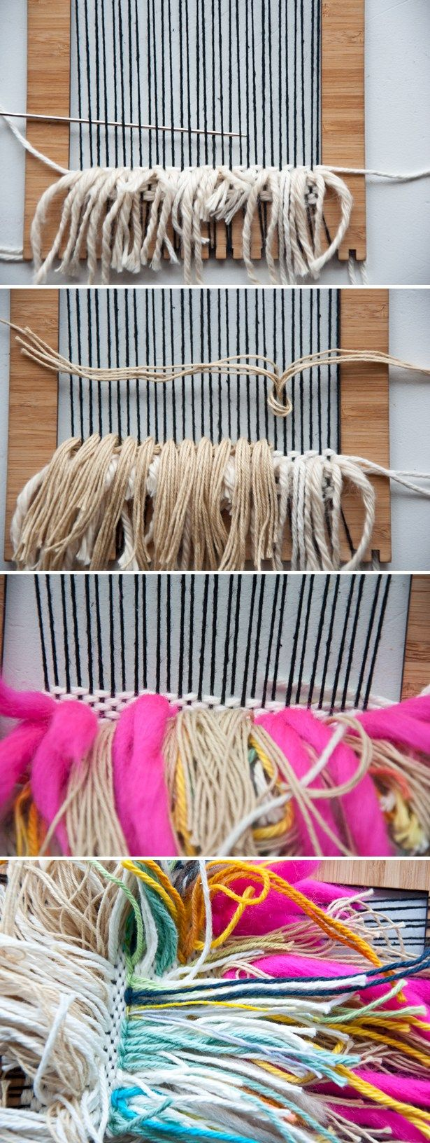 I can't wait to use up all those yarn scraps!   Shag Weave Stash Buster | The Weaving Loom