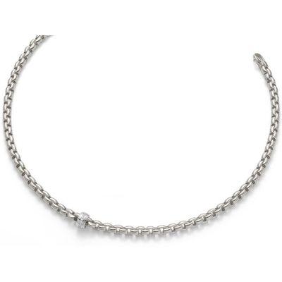 Fope Flex'it Eka Weißgold Halskette | 704C-BBR-430_WG