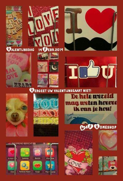 De valentijnskaarten zijn er weer .