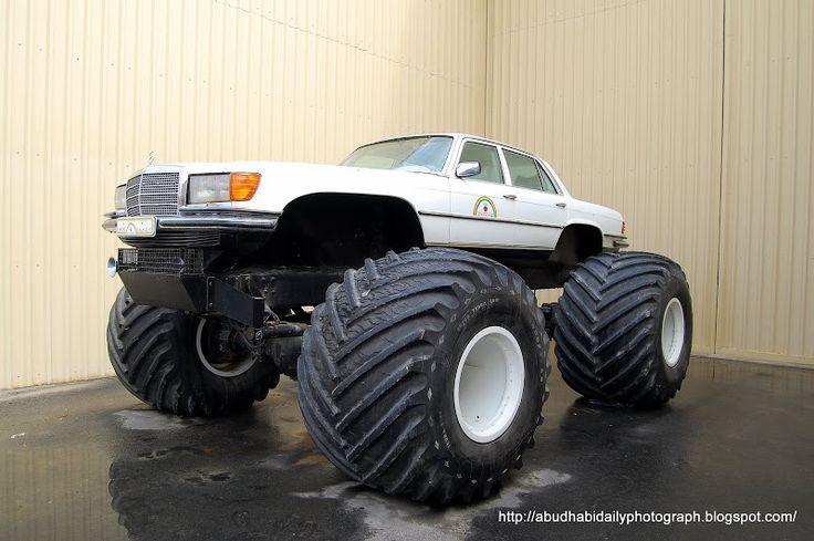 "google mercedes benz monster truck | The Giant Trucks Of The Eccentric ""Rainbow Sheikh"""