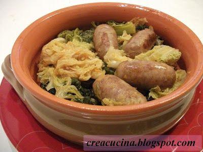 Crea & Cucina... Con Fantasia: SALAMINI CON LA VERZA