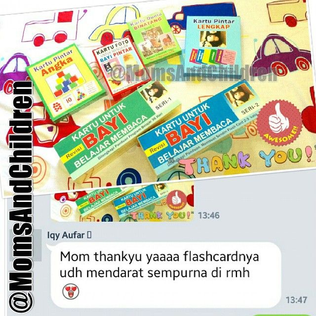 Thanks to our customer.. Paket Flashcard / Kartu Belajar Bayi