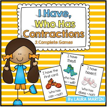 I Have, Who Has-Contractions