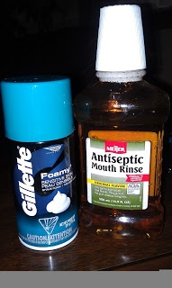 Mouth Wash & Shaving Cream Cracked Feet Remedy
