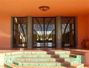 Decoration: Awesome Indian Art Deco Orange Color Cool Green Outdoor  Staircase Grey Marble Pillar Large Artistic Glazed Windows And Door House  Design ...