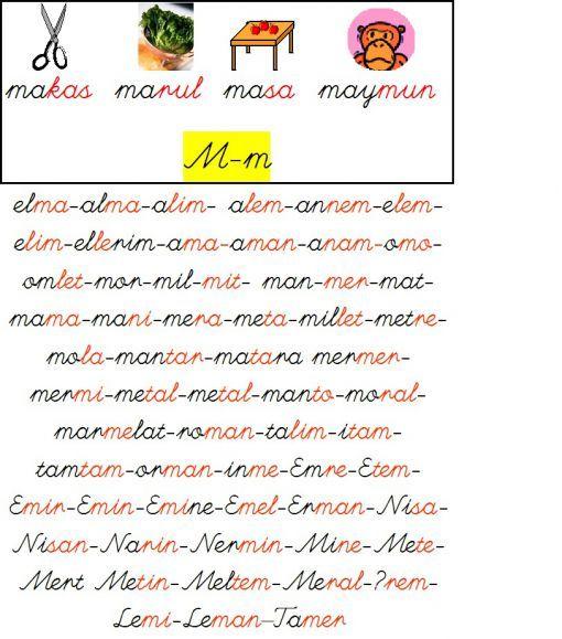 m sesi okuma metinleri - Google'da Ara