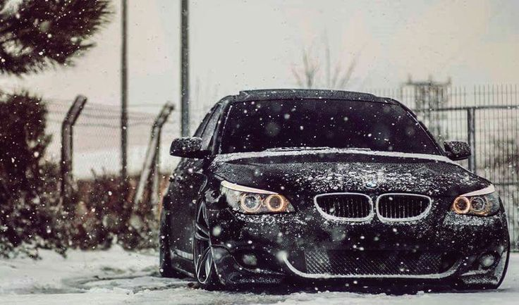 BMW E60 5 series black winter