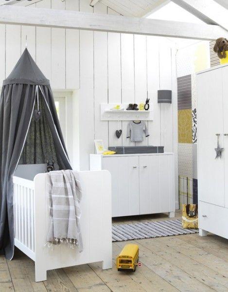... babykamer grijs wit geel  ZOOK.nl  Inspiratie babykamer  Pinterest