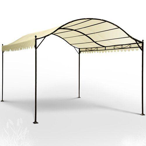 Miadomodo® GRTPV06beige Metal Garden Pavilion approx 3 x 4 x 2.56m (LxWxH): Amazon.co.uk: Garden & Outdoors 83.56