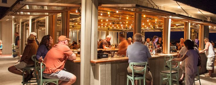The Rusty Nail - 205 Beach Avenue, Cape May - surfer bar and restaurant - outdoor seating, sand bar, fire pit and shuffleboard.