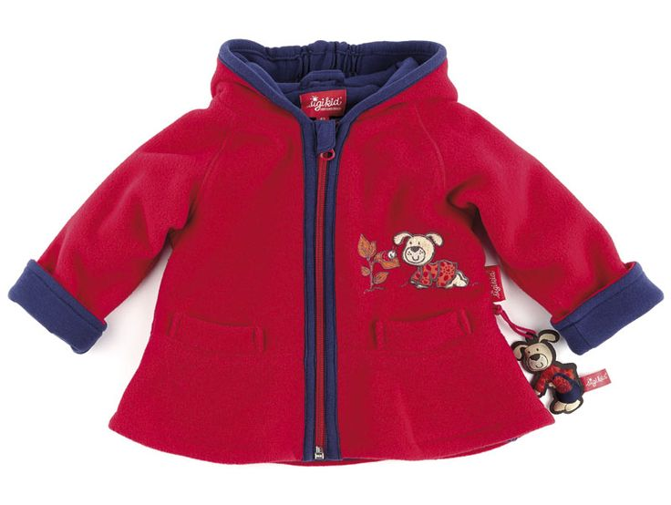 sigikid - Fleecejacke Baby  - Farbe: rot  - Materail: 100% Polyester, Innen: 100% Baumwolle  - Maschienwäsche bei 40°C