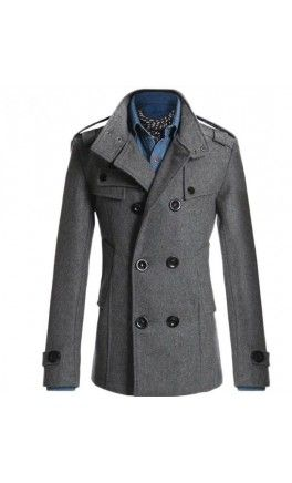 Mens Modern Fit Double Breasted Coat