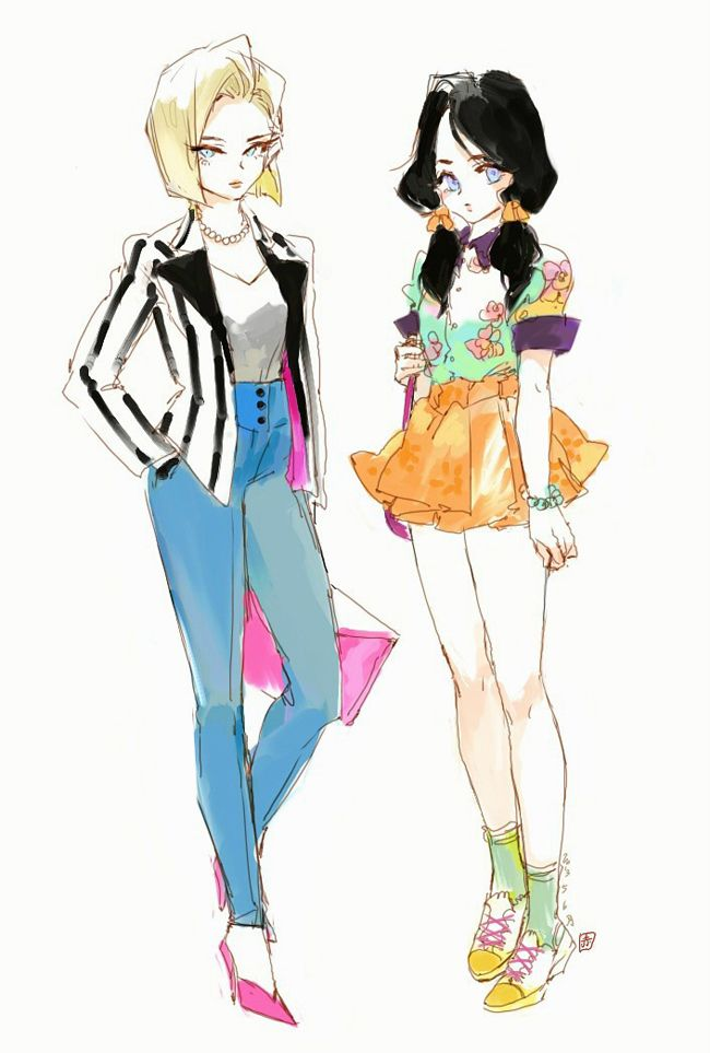 Android 18 and Videl #adroid_18 and #Videl #dbz