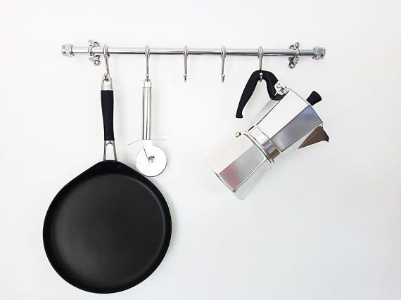 Check out this item in my Etsy shop https://www.etsy.com/uk/listing/536313928/chrome-pot-and-pan-rail-pan-organiser