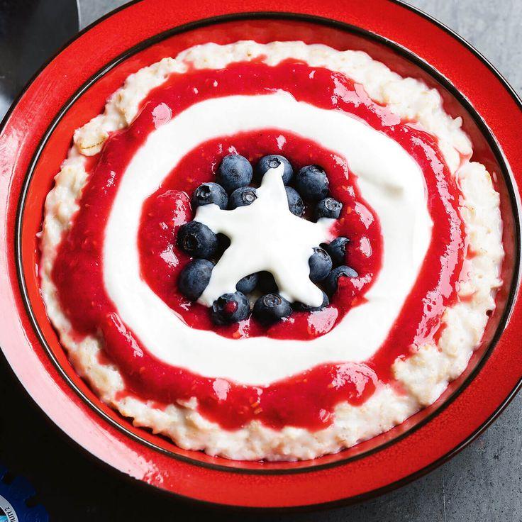 Captain America Porridge to the rescue! #PorridgeGoals