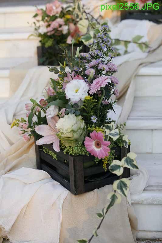 στολισμός εκκλησίας - vintage γάμος
