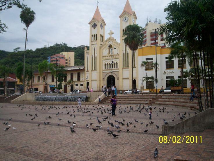 iglesia y parque principal villavicencio,  Meta, Colombia