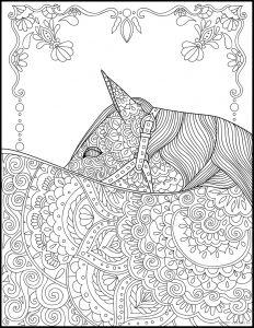 Раскраска Лошадь Антистресс- распечатать бесплатно ...