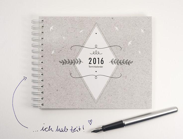 hannafaktur Terminkalender 2016 von hannafaktur auf DaWanda.com