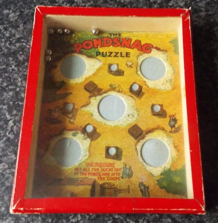 """Vintage """"The Pondsnag"""" Dexterity Puzzle Game - R. Journet"""