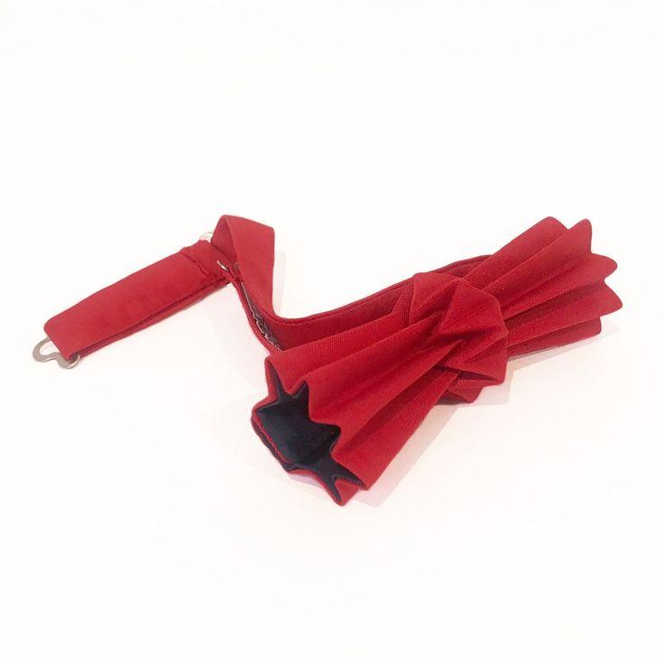 noeud papillon origami rouge & marine