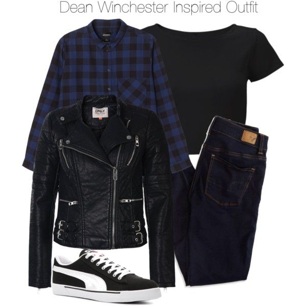 Supernatural - Dean Winchester Inspired Outfit by staystronng on Polyvore featuring Monki, Lipsy, ONLY, American Eagle Outfitters and Puma