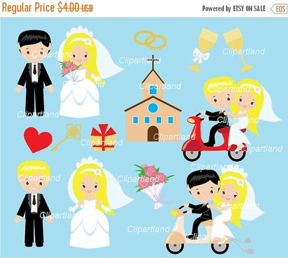 ON SALE INSTANT Download. Cwed_4_wedding. Wedding clip art. Personal and commercial use.