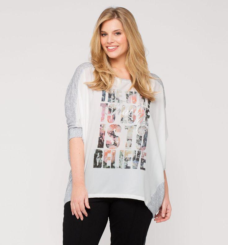 Damen Shirt mit Print in hellgrau - Mode günstig online kaufen - C&A