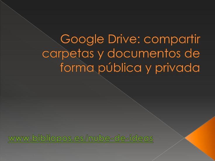 Drive: Compartir carpetas y documentos de forma pública y privada