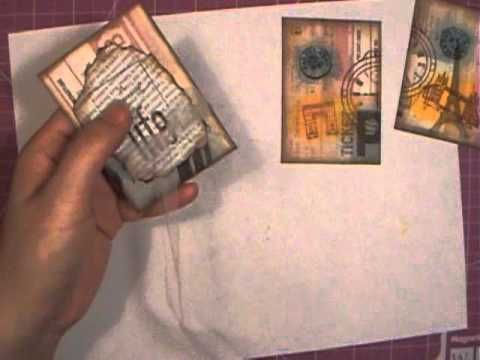 Easy and quick ATC - Artist Trading Card - YouTube