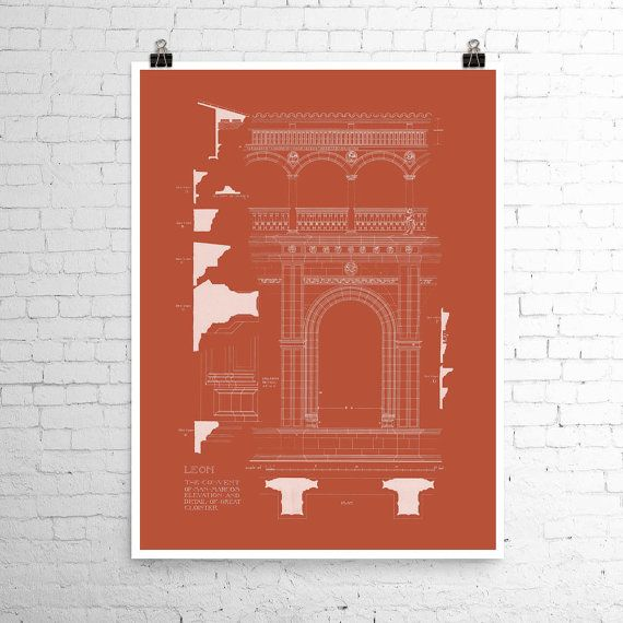 Architectural Print Spanish Architecture from a by CarambasDigital