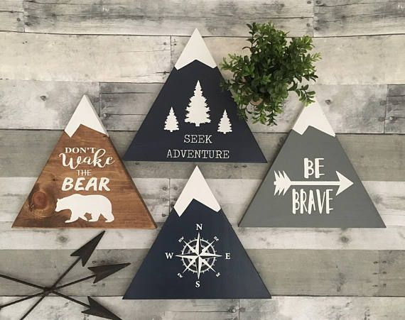 Woodland Nursery Decor | Rustic Decor | Wood Sign Wall Hanging | Childrens Room Decor