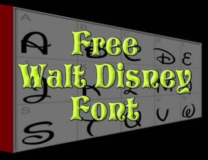 Free Disney Font - a-k-b info