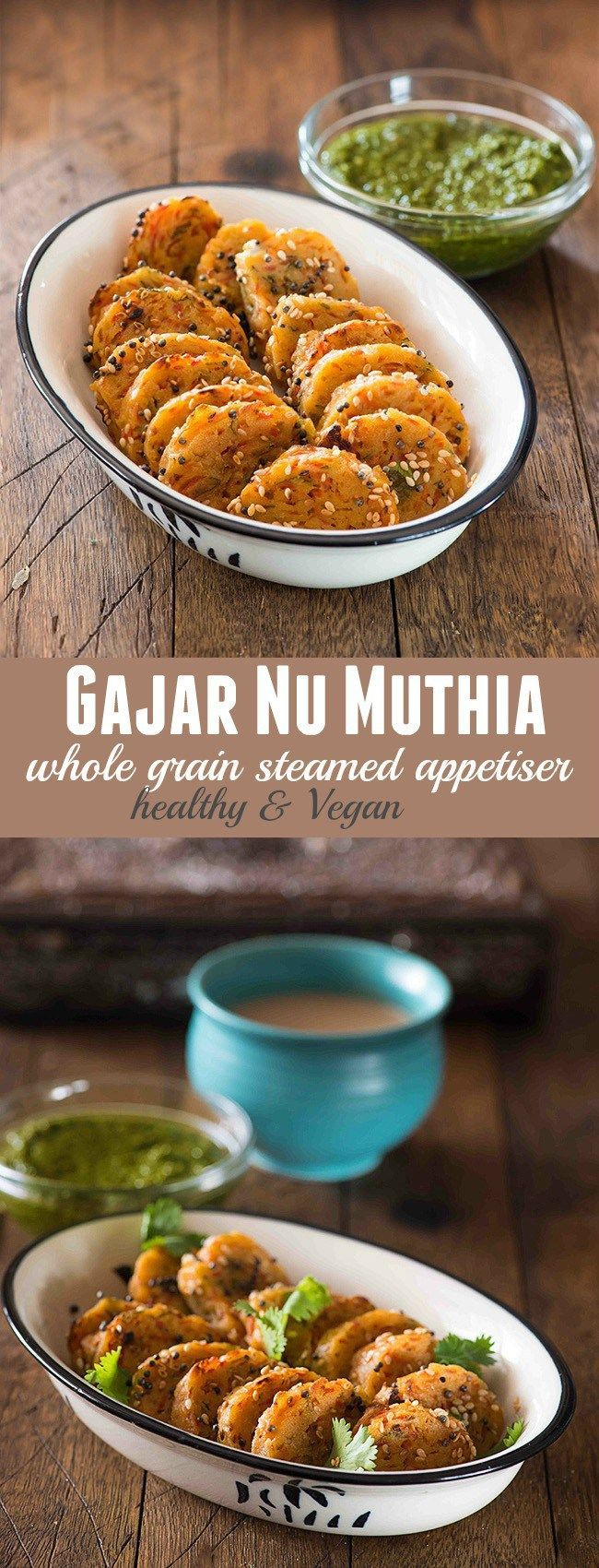Muthia are popular teatime snack or farsan from Gujarat. These are tasty and healthy steamed snacks which are made using vegetables and multigrain flour. Gajar Nu Muthia is made using carrots and multigrain flour