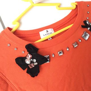 LANVIN en Bleu(ランバンオンブルー)のランバン ビジュー付スウェットトップス レディースファッションのトップス(トレーナー/スウェット)の商品写真