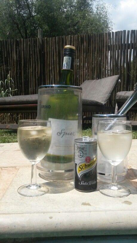 Poolside beverages
