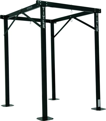 TITLE Boxing Pro Heavy Bag Stand Compacts to Hang four Punching Bags