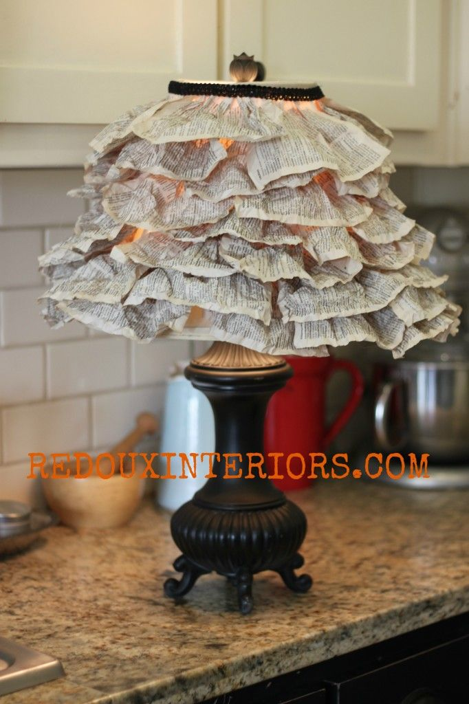 Book Page Lamp Shade Redoux Interiors 19 best