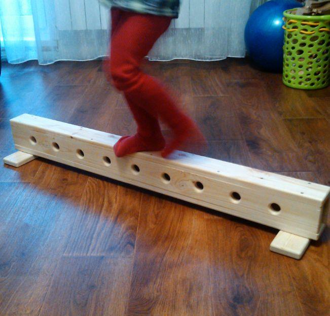 Children's sports toy. A gymnastic balance beam. Мини гимнастическое бревно. fizvospitanie76