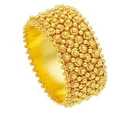 Fede Sarda in oro a fascia in filigrana sarda