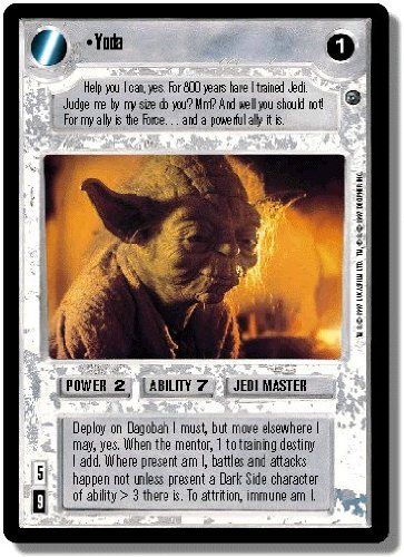 Collectible Trading Card Counters - Star Wars CCG Dagobah Rare Yoda >>> Check out the image by visiting the link.