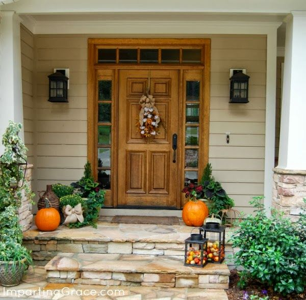 Imparting grace an autumn front porch 10 creative Beautiful fall front porches
