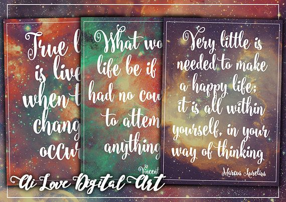 Digital printable images Life Quotes digital collage sheet