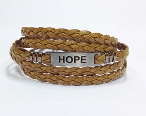 Male leather bracelet Hope