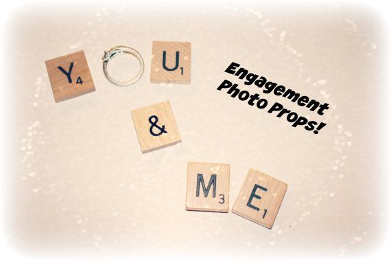Engagement Photo Props You and Me You and by HidingPlaceBoutique