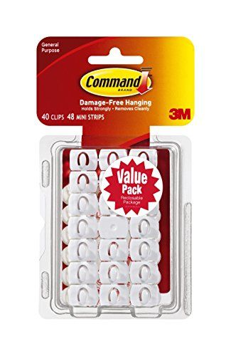 Command Decorating Clips, White, 40-Clips (17026-40ES)