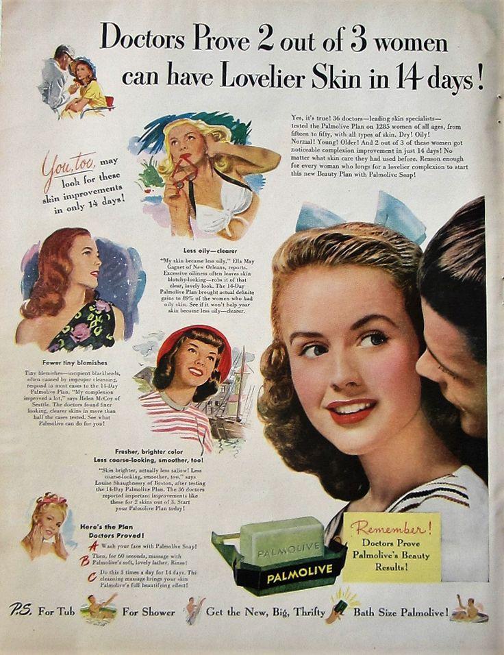 1947 Palmolive Soap Vintage Advertisement Bathroom Wall Art Kitchen Decor Original Magazine Print Ad Powder Room Art Health Beauty Ephemera by RelicEclectic on Etsy