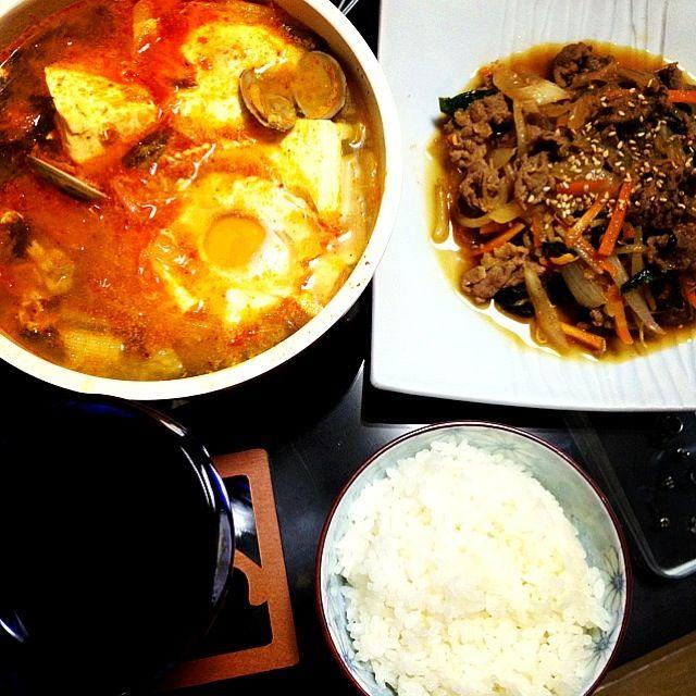久しぶりの韓国料理♡ - 11件のもぐもぐ - プルコギ、スンドゥブ by Marico*   ੈ✩‧₊˚
