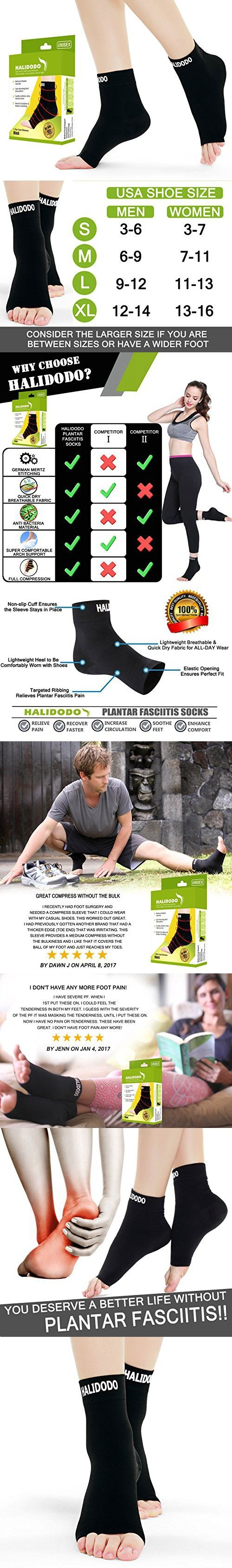 Plantar Fasciitis Socks with Arch & Foot Support Compression Foot Sleeves for Effective Heel, Arch & Ankle Support Improves Circulation, Soothes Achy Feet, Minimizes Foot Pain (1 Pair, Black)